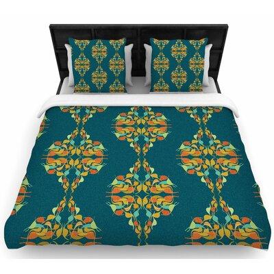 Dan Sekanwagi Turquoise Feast Woven Duvet Cover Size: King