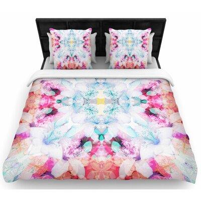 Danii Pollehn Hibiscus Kaleidoscope Woven Duvet Cover Size: Twin
