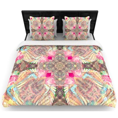 Danii Pollehn Indian Clash Woven Duvet Cover Size: King