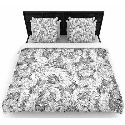 Danii Pollehn Jungle Paisley Woven Duvet Cover Size: Twin
