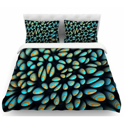 Danny Ivan Blue Blobbly Featherweight Duvet Cover Size: Twin