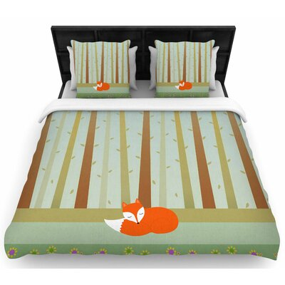 Cristina Bianco Sleeping Fox  Woven Duvet Cover Size: Twin
