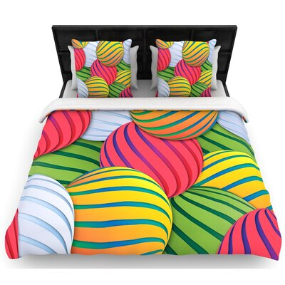 Danny Ivan Melons Woven Duvet Cover Size: King