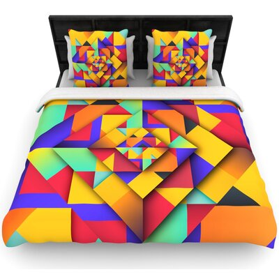 Danny Ivan Shapes II Geometric Woven Duvet Cover Size: Full/Queen