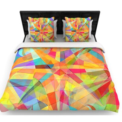 Danny Ivan Star Geometric Woven Duvet Cover Size: Full/Queen