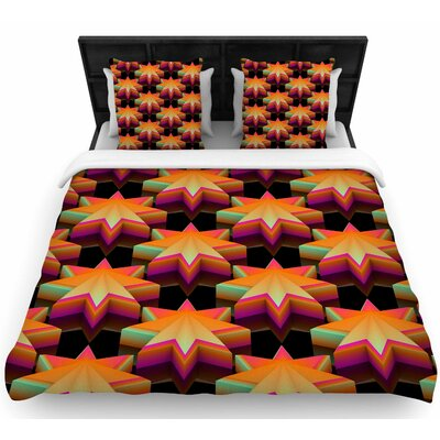 Danny Ivan Stars Pattern Woven Duvet Cover Size: Twin