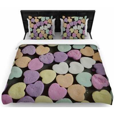 Cristina Mitchell Candy Love Photography Woven Duvet Cover Size: King