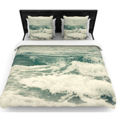 Cristina Mitchell Crashing Waves Woven Duvet Cover Size: King
