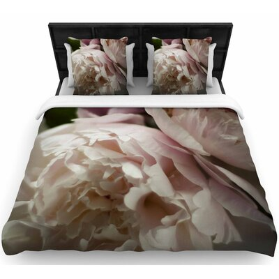 Cristina Mitchell Peonies Woven Duvet Cover Size: Full/Queen