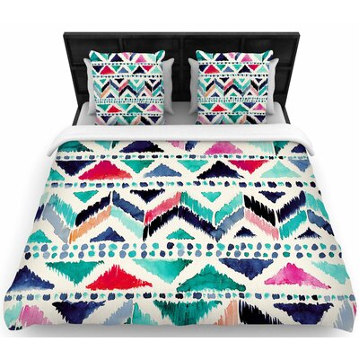 Crystal Walen Celestial Tribal Stripe Woven Duvet Cover Size: Twin