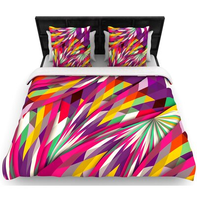 Danny Ivan Sweet Geometric Woven Duvet Cover Size: Full/Queen
