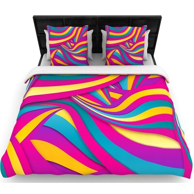Danny Ivan Swirls Everywhere Woven Duvet Cover Size: Full/Queen