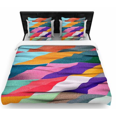 Danny Ivan Timeless Texture Stripes Woven Duvet Cover Size: Twin