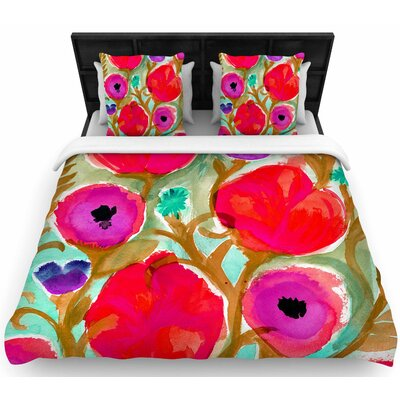 Crystal Walen Fiona Flower Woven Duvet Cover Size: Full/Queen