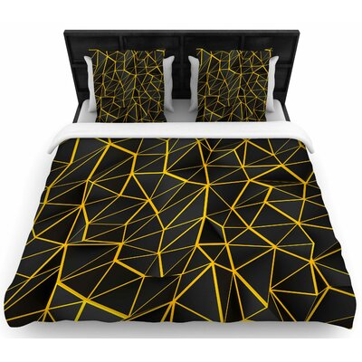 Danny Ivan Yellow Poly Woven Duvet Cover Size: Twin