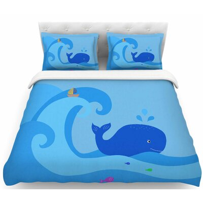 Cristina Bianco Blue Whale Featherweight Duvet Cover Size: Twin