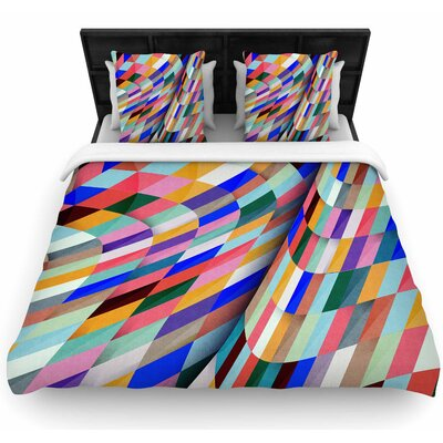Danny Ivan 'Different' Geometric Woven Duvet Cover Size: Twin