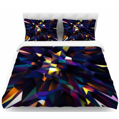 Danny Ivan Low Iris Poly  Featherweight Duvet Cover Size: Twin
