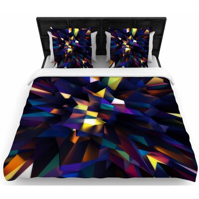 Danny Ivan Low Iris Poly  Woven Duvet Cover Size: King