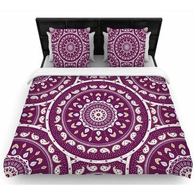 Cristina Bianco Mandala Woven Duvet Cover Size: Twin