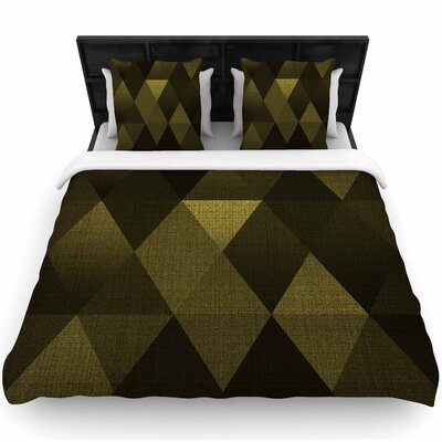 Cvetelina Todorova Golden Triangles Woven Duvet Cover Size: Twin