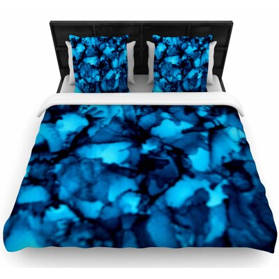 Claire Day Teal Woven Duvet Cover Size: Twin