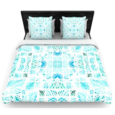 Danii Pollehn Scandanavian Square Woven Duvet Cover Size: Full/Queen