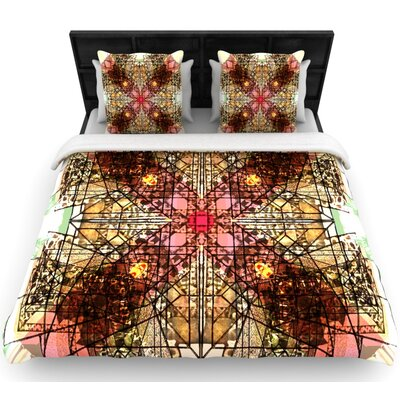 Danii Pollehn Viereck Geometric Woven Duvet Cover Size: Full/Queen