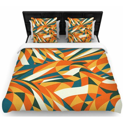 Danny Ivan Astro Naive Woven Duvet Cover Size: King
