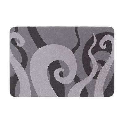 Poor Unfortunate Souls Memory Foam Bath Rug Size: 0.5 H x 17 W x 24 D, Color: Gray
