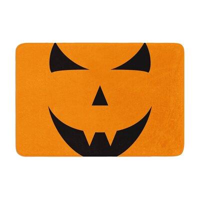 Pumpkin Trick Memory Foam Bath Rug Size: 0.5 H x 17 W x 24 D