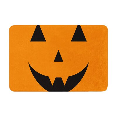 Pumpkin Treat Memory Foam Bath Rug Size: 0.5 H x 17 W x 24 D