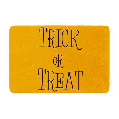 Trick or Treat Memory Foam Bath Rug Size: 0.5 H x 17 W x 24 D, Color: Black