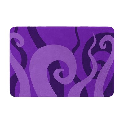 Poor Unfortunate Souls Memory Foam Bath Rug Size: 0.5 H x 24 W x 36 D, Color: Purple