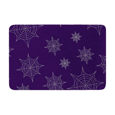 Mini Webs Memory Foam Bath Rug Size: 0.5 H x 17 W x 24 D, Color: Purple