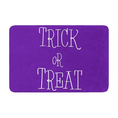 Trick or Treat Memory Foam Bath Rug Size: 0.5 H x 17 W x 24 D, Color: Purple