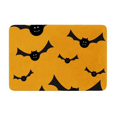 Going Batty Memory Foam Bath Rug Size: 0.5 H x 17 W x 24 D
