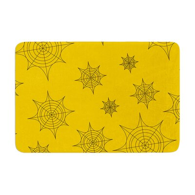 Mini Webs Memory Foam Bath Rug Size: 0.5 H x 17 W x 24 D, Color: Orange