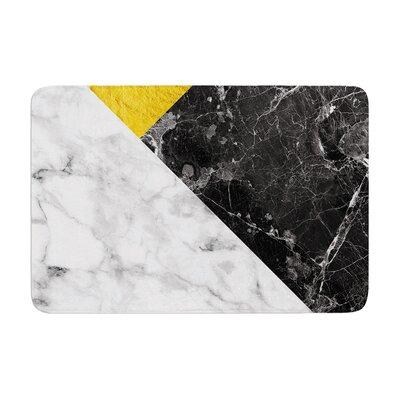 Geo Marble Digital Geometric Memory Foam Bath Rug Size: 0.5 H x 17 W x 24 D