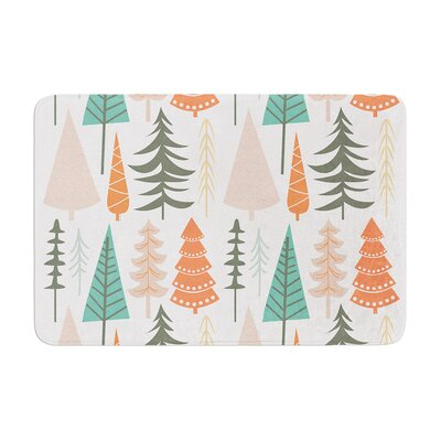 Happy Forest Memory Foam Bath Rug Size: 0.5 H x 17 W x 24 D, Color: Orange