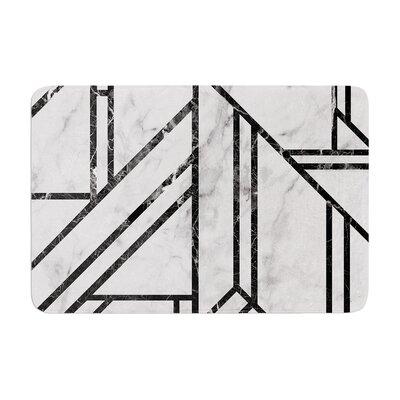 Marble Mosaic Geometric Modern Memory Foam Bath Rug Size: 0.5 H x 17 W x 24 D