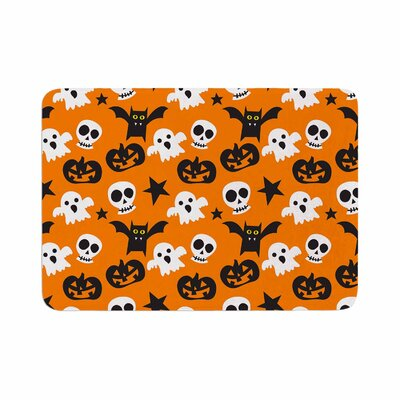 Spooktacular Halloween Pattern Memory Foam Bath Rug Size: 0.5 H x 24 W x 36 D