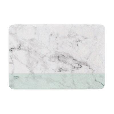 Marble Fade Memory Foam Bath Rug Size: 0.5 H x 24 W x 36 D