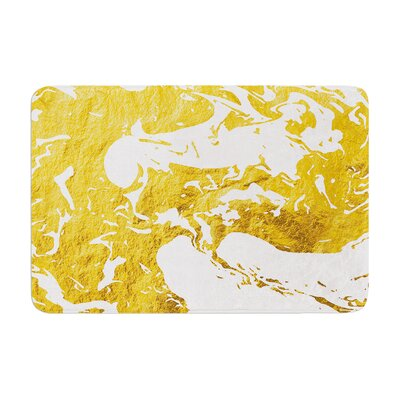 Ink on Water Metal Memory Foam Bath Rug Size: 0.5 H x 17 W x 24 D