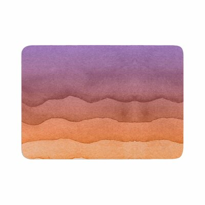 Ombre Sunrise Watercolor Memory Foam Bath Rug Size: 0.5 H x 24 W x 36 D