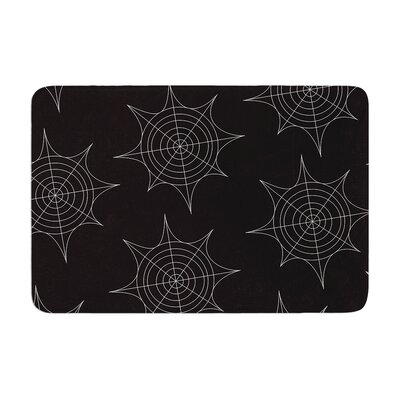 Spiderwebs Memory Foam Bath Rug Size: 0.5 H x 17 W x 24 D, Color: Black