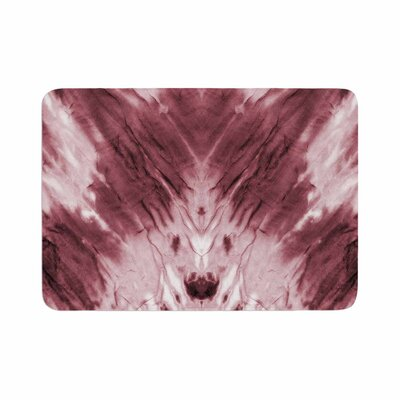 Dye Abstract Memory Foam Bath Rug Size: 0.5 H x 24 W x 36 D