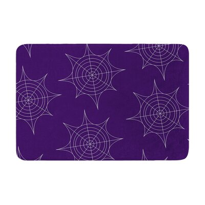 Spiderwebs Memory Foam Bath Rug Size: 0.5 H x 17 W x 24 D, Color: Purple