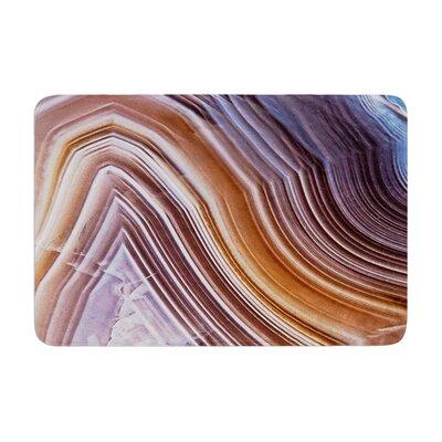 Pale Layered Agate Memory Foam Bath Rug Size: 0.5 H x 17 W x 24 D