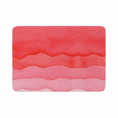 Ombre Cherries Abstract Memory Foam Bath Rug Size: 0.5 H x 17 W x 24 D